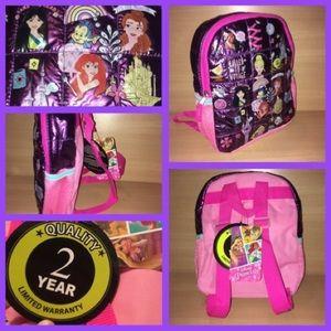 NWT Mini Backpack Purse Disney Princess Bag Girls